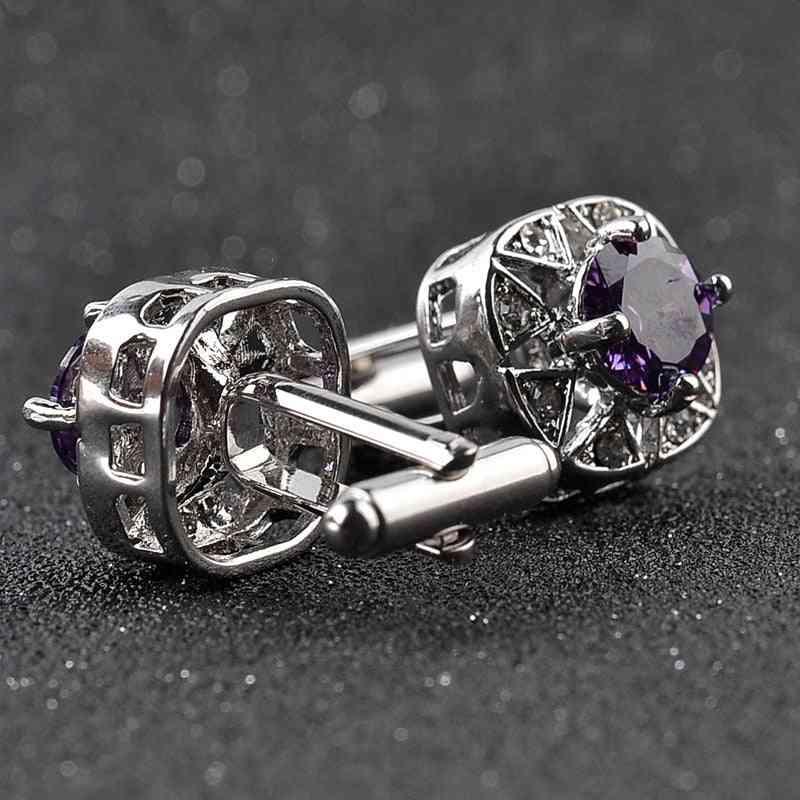Luxury Crystal Cufflinks, Rhinestone Design Cufflink