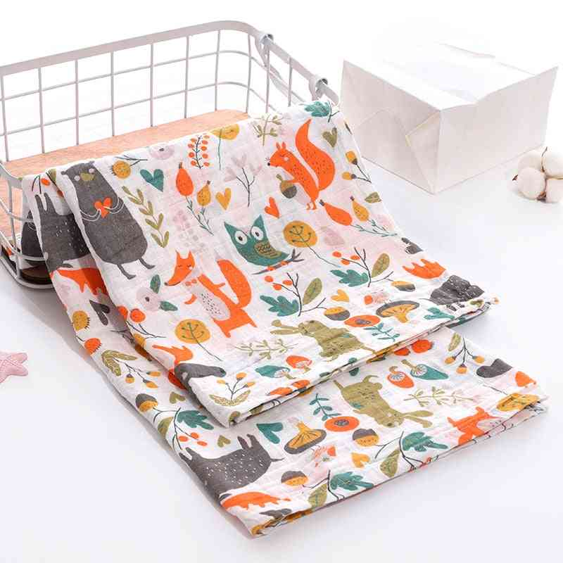 Cotton Muslin Baby Blanket Swaddle Wrap Stroller Cover