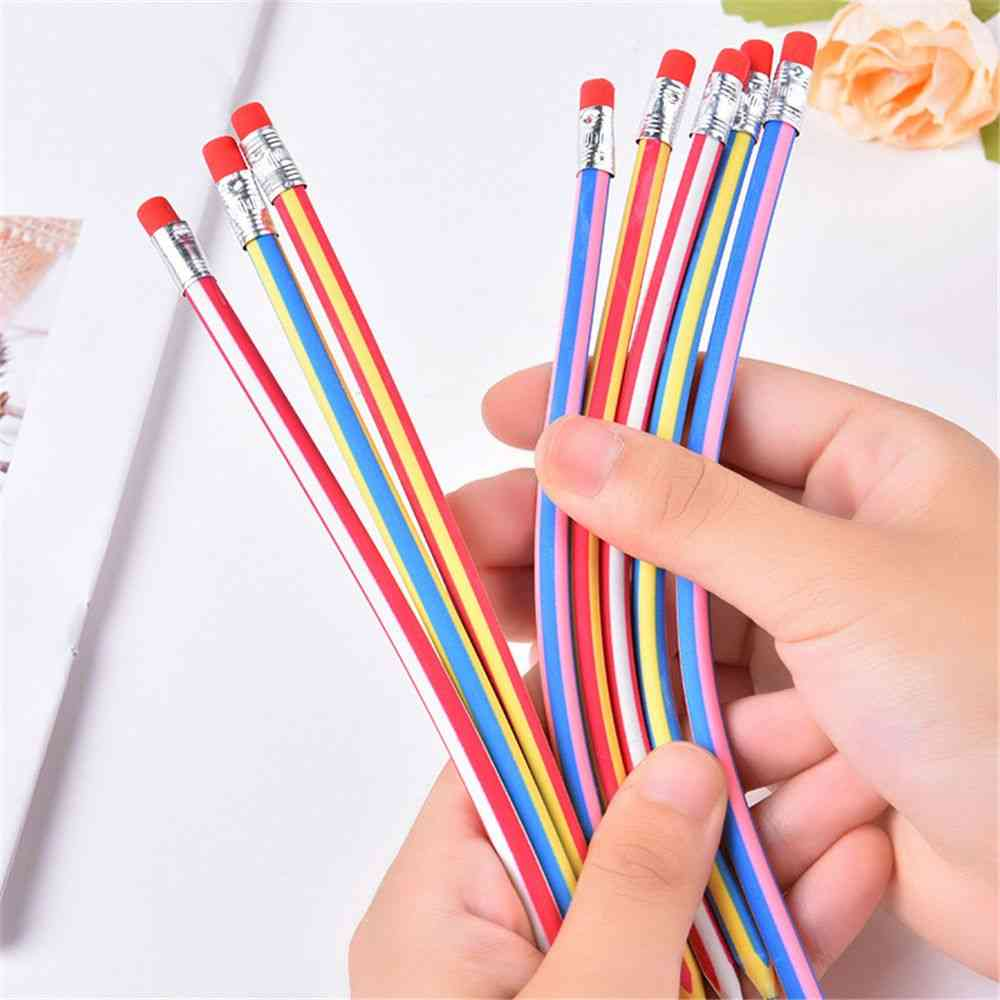 Colorful Magic Bendy Flexible Soft Pencil With Eraser
