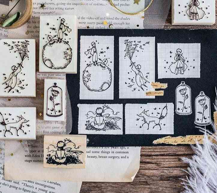 Decoration Wooden Rubber Stamps