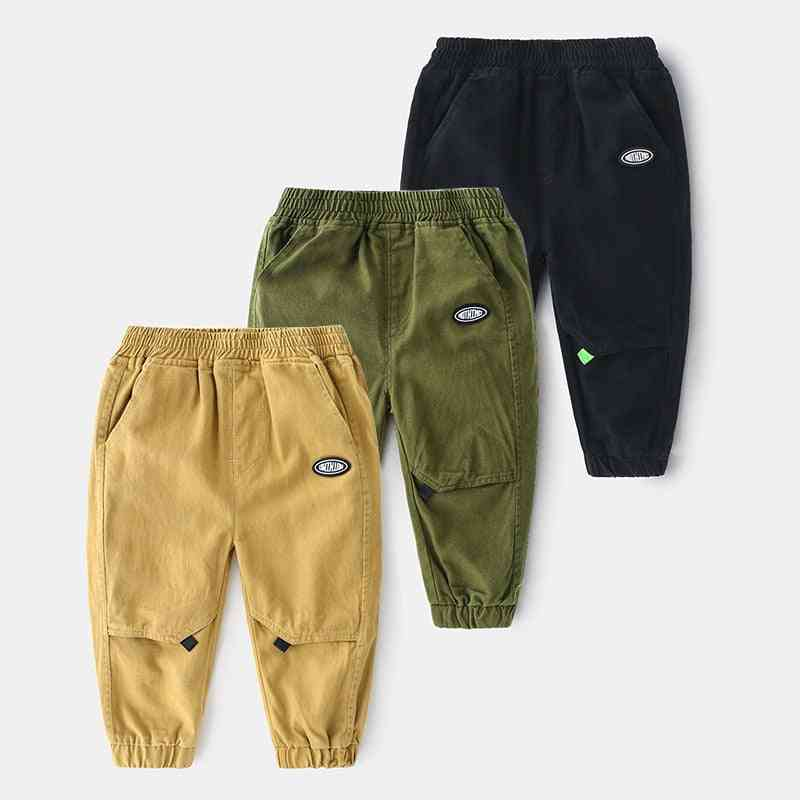 Autumn Boy Trousers Pants, Elastic Waist Casual Pants