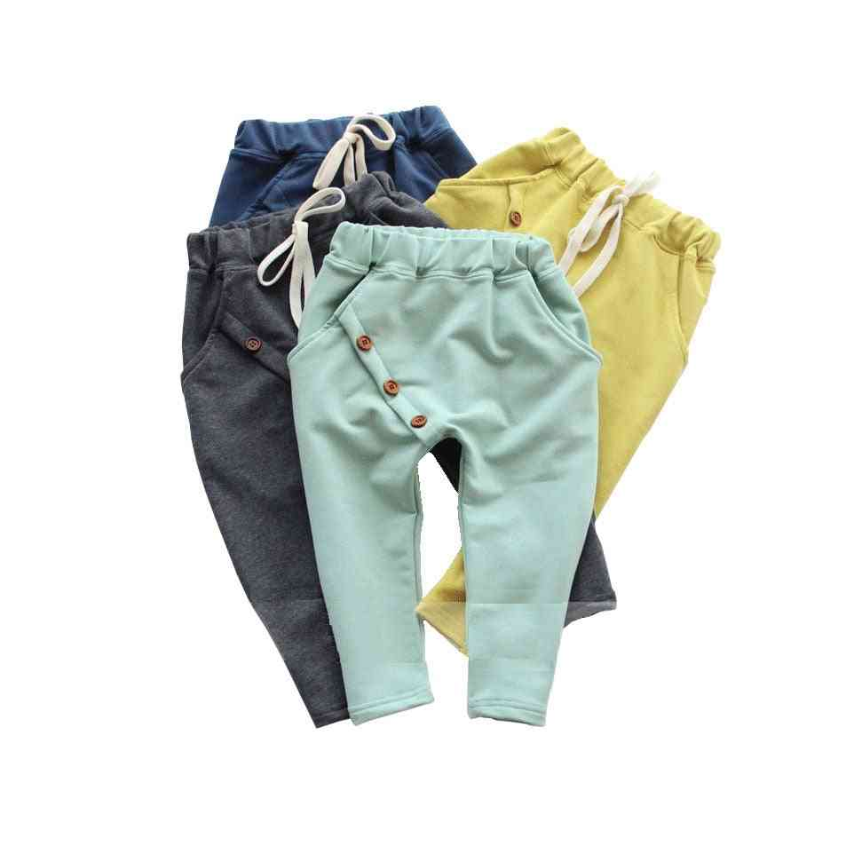 Boys Pants Solid Cotton Clothes Harem Pants