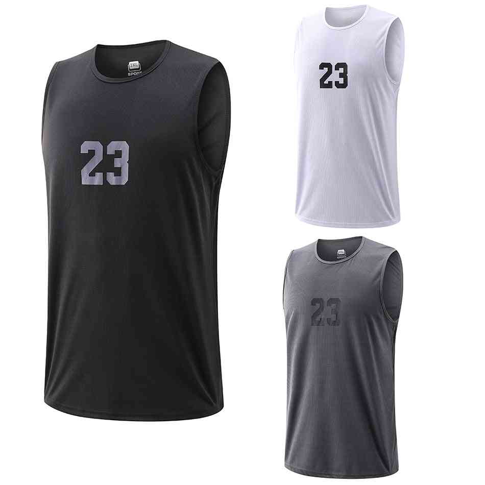 Male Fitness Jogging Workout Basketball Tops
