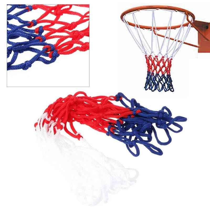 5mm Red White Blue Durable Basketball Net