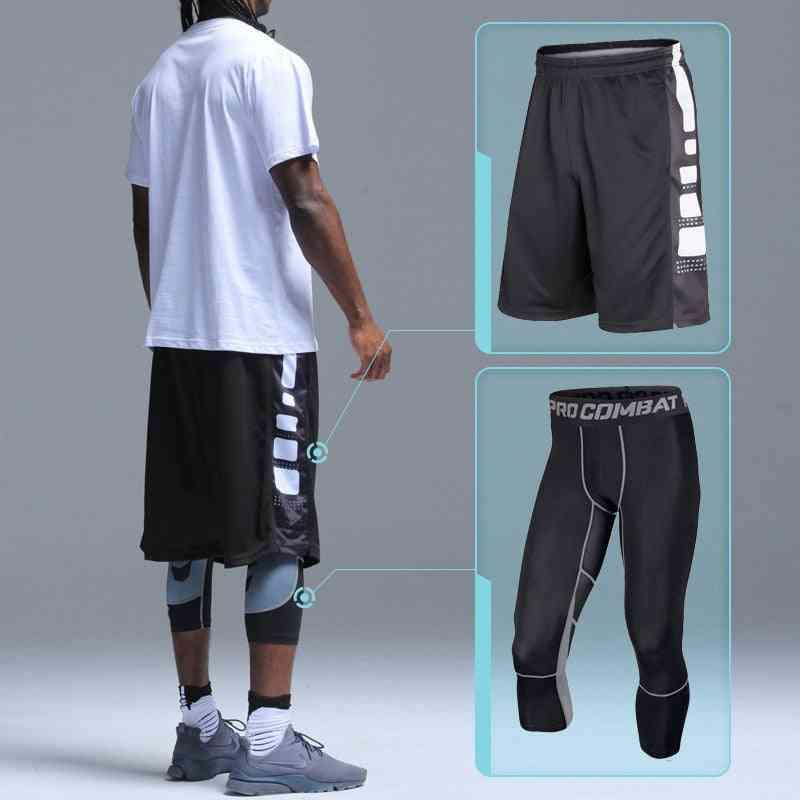 Kids Basketball Shorts + Tights Sets