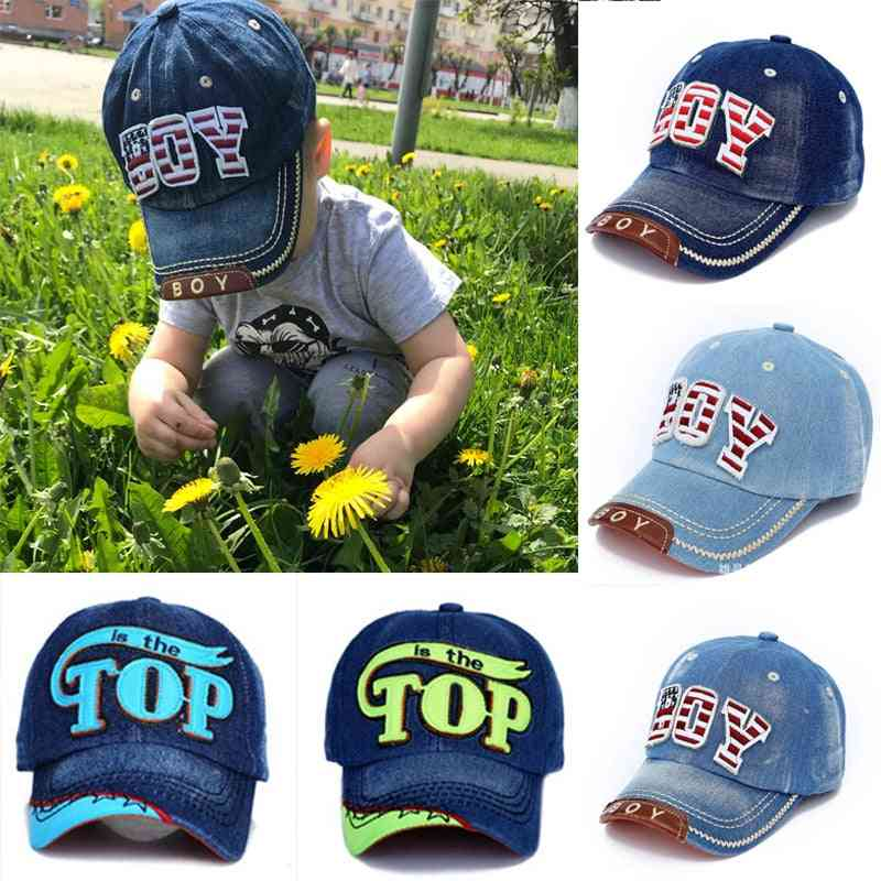 Letter Print Baby Baseball Caps