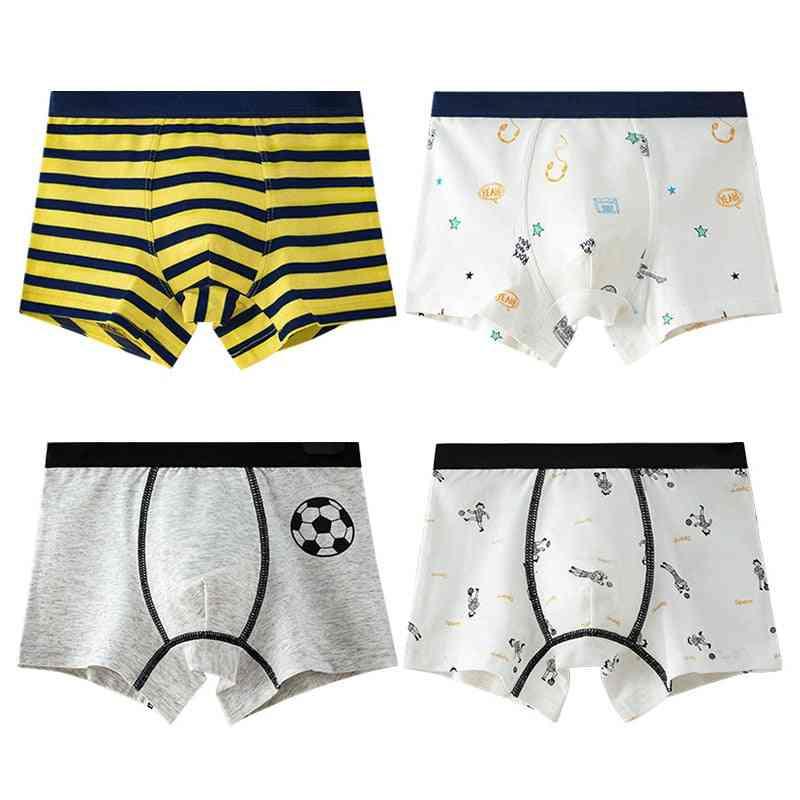 Kids Cartoon Striped Panties