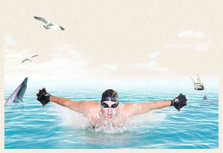 Diving Swimming Gloves Flippers