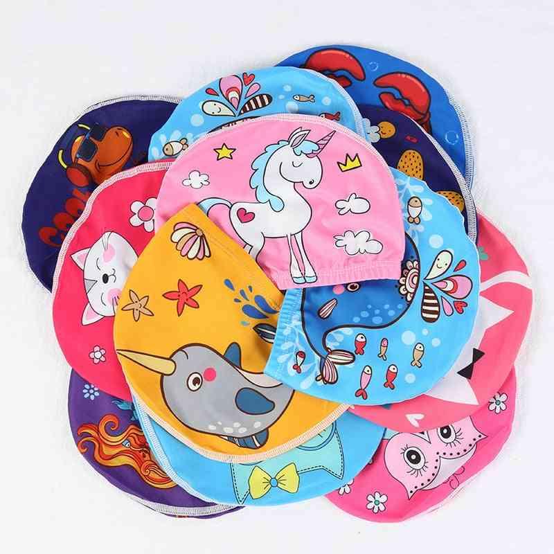 Toddler Beach Swim Hats, Cartoon Swimming Pool Caps