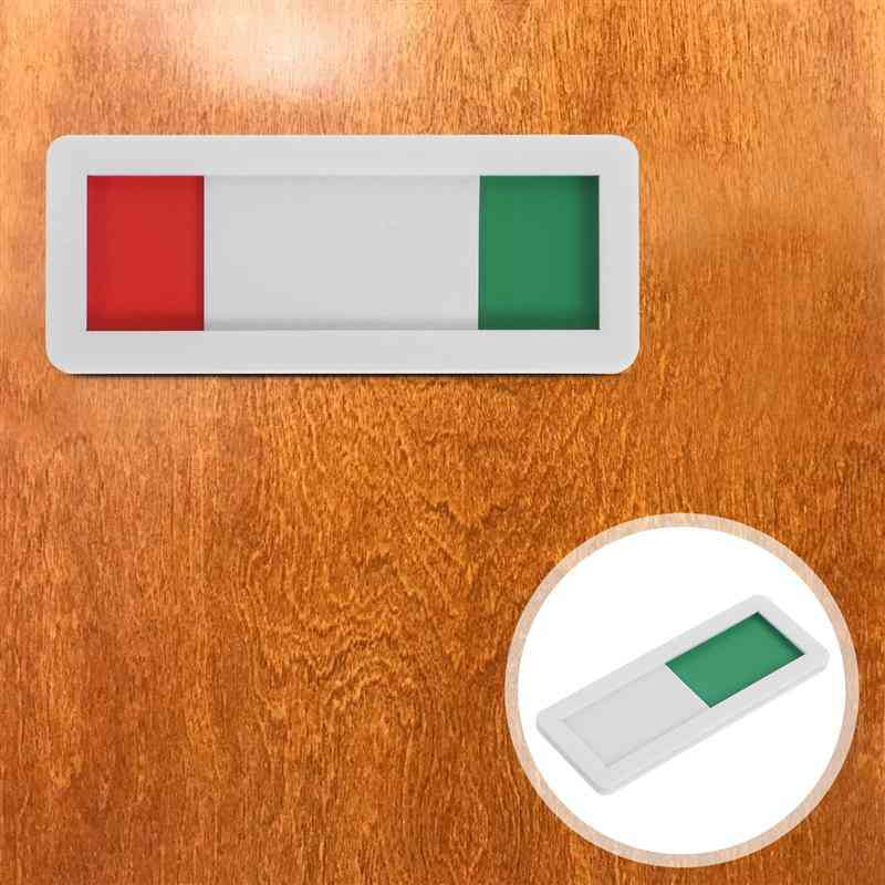 Self Adhesive Indicator Sign For Office Status Switch