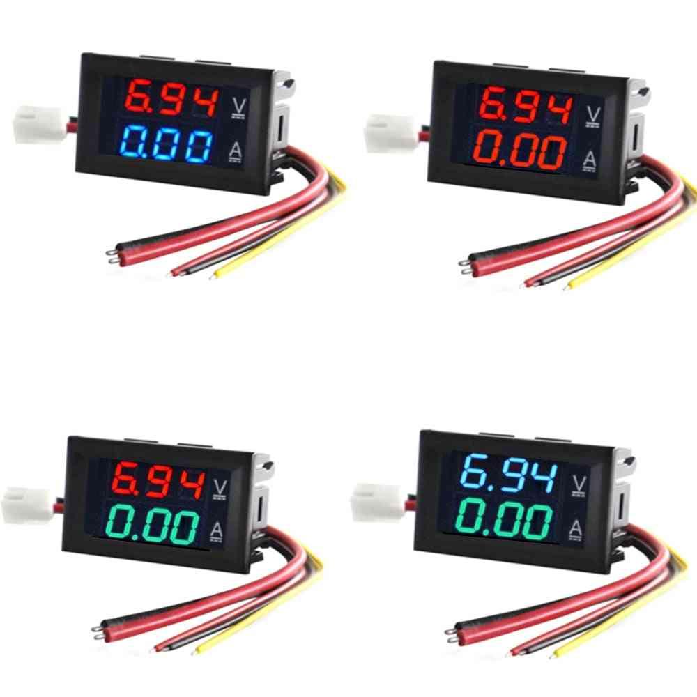 Led Amp Dual Digital Volt Meter Gauge