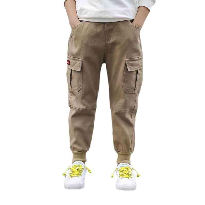 Elastic Waist Boy Cargo Pants