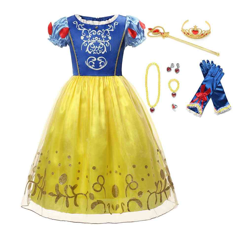 Girl Kids Cosplay Sofia Gown, Christmas Party Clothing