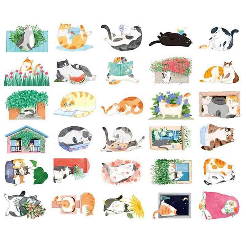 Postcard Hand-painted Cat Shape