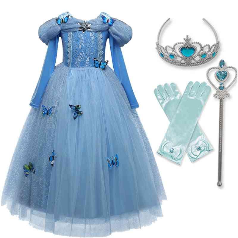 Girls Princess Kids Halloween Party Cosplay Dress