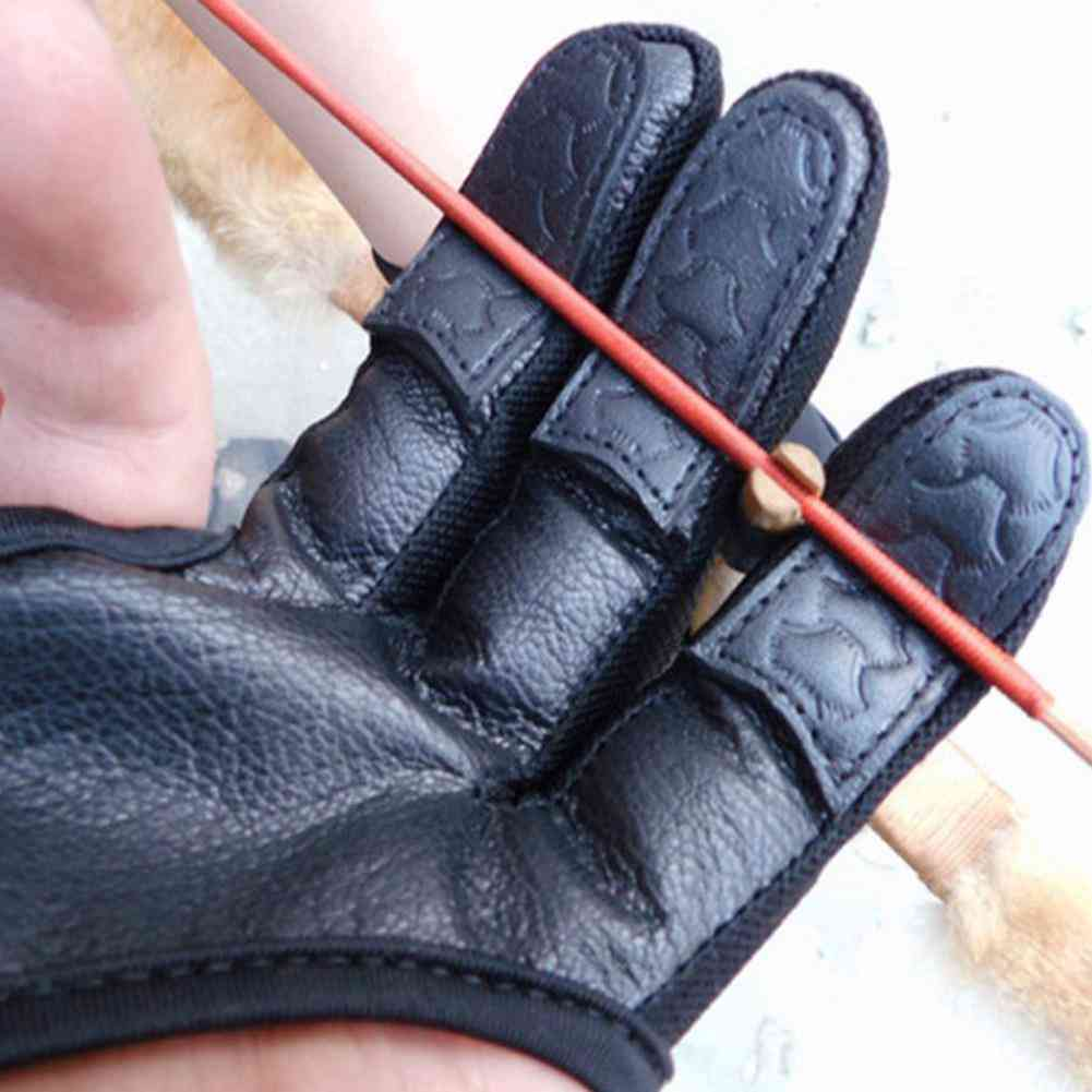 Fingers High Elastic Hand Guard Protective Archery Bow Shooting Glove