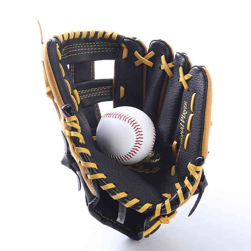 Men Sports Genuine Leather Baseball Gloves