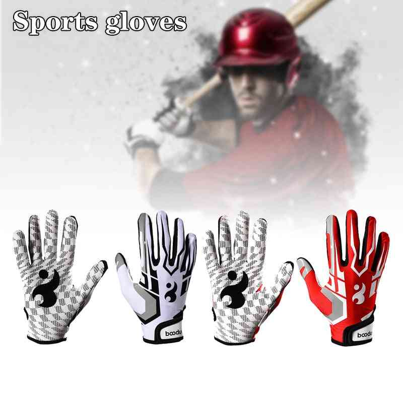 Baseball Non Slip Silicone Wear Resistant Breathable Adjustable Wrist Strap Outdoor Sports Fitness Gloves