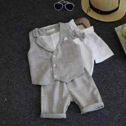 Wedding Suits For Formal Wear Jacket Summer Cotton Boy Suits Boy Costume Kids Blazer Baby Boy Outfits Clothes
