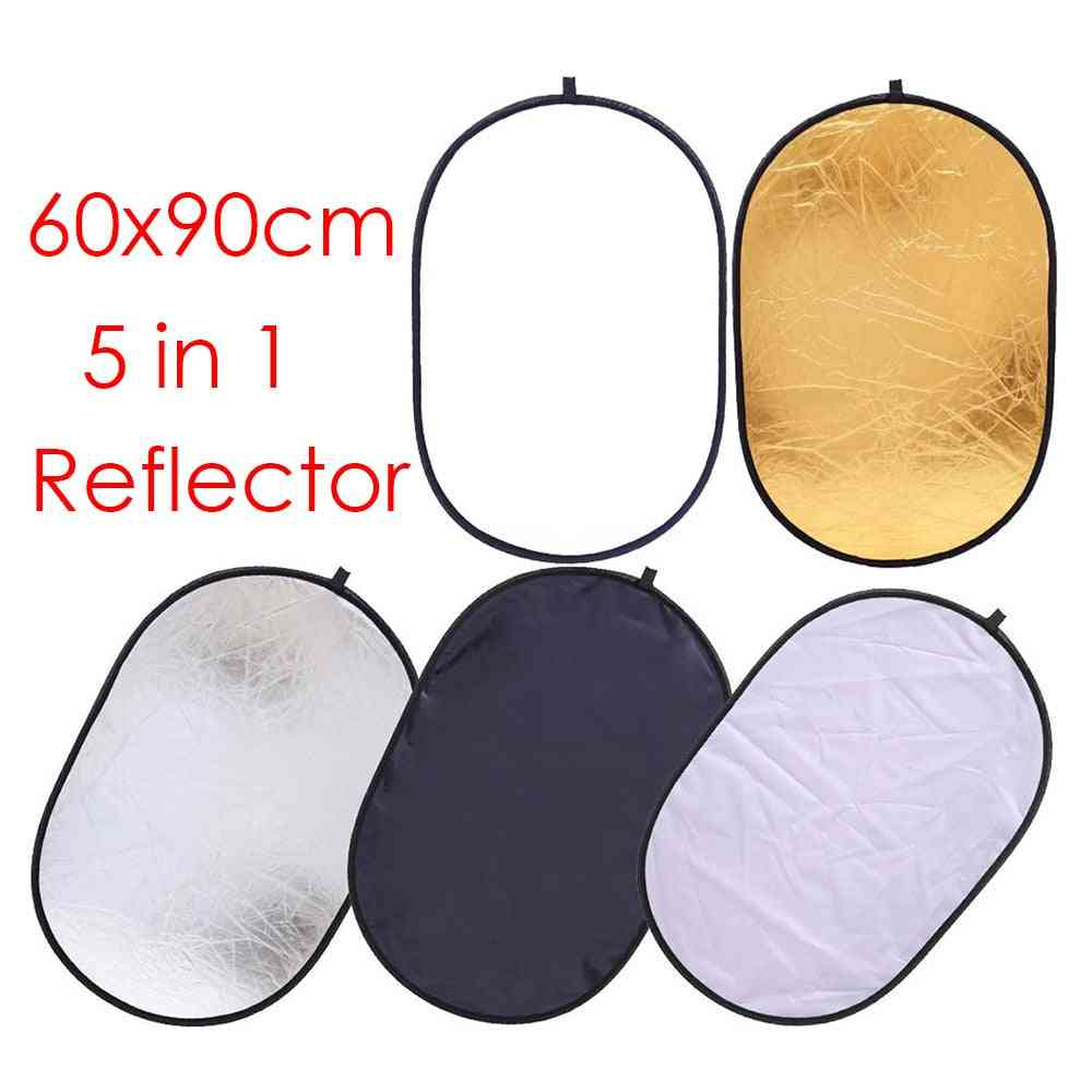 Portable Collapsible Light Oval Photography Reflector