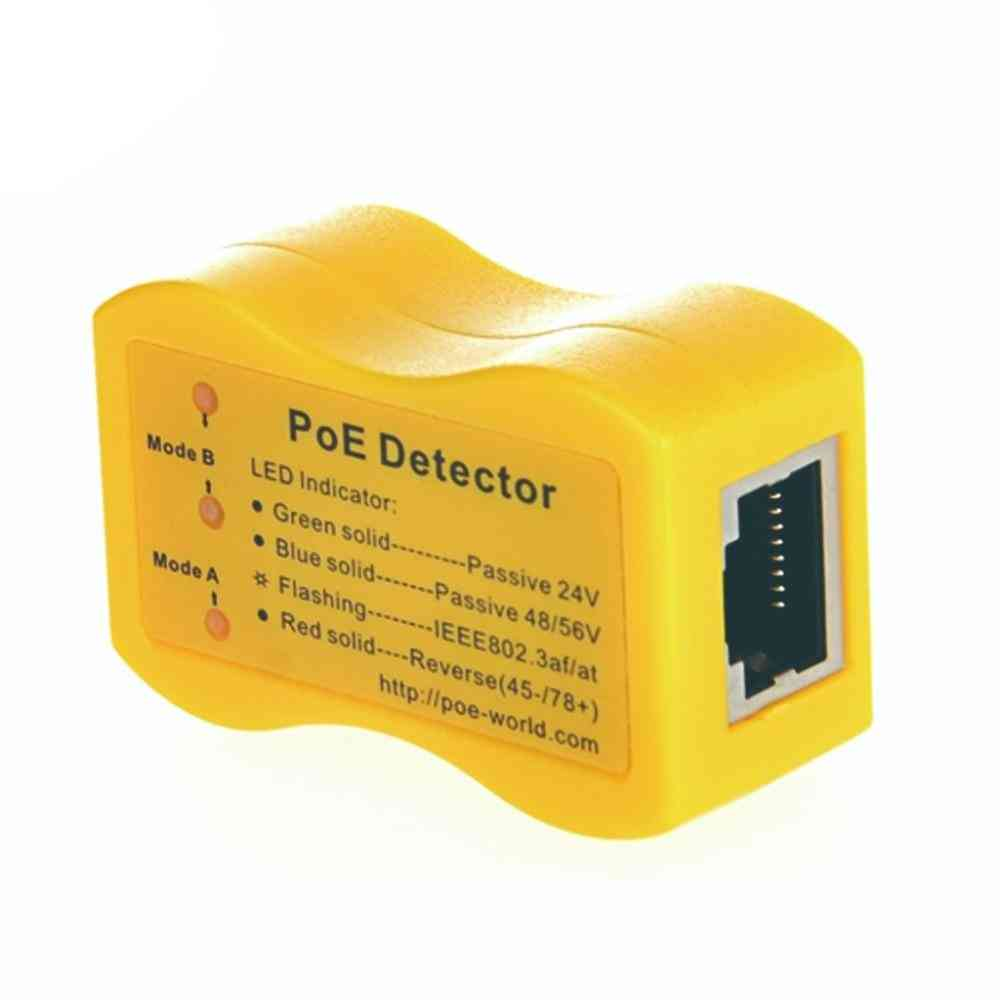 Poe-world Quickly Identify Power Over Ethernet With Rj-45 Poe Detector