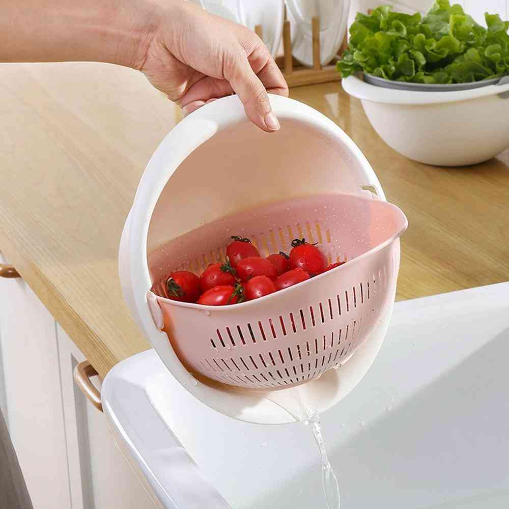 Portable Detachable Double-layer Hollow Fruit And Vegetable Cleaning