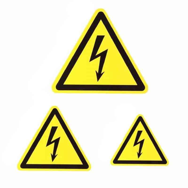 Vinyl Car Bike Bumper Electric Warning Danger Sign Sticker