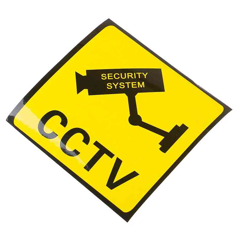 Monitoring Warning Sign Security Sticker
