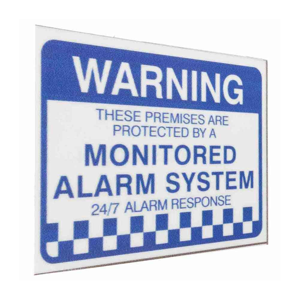 Waterproof Pvc Warning Security Stickers