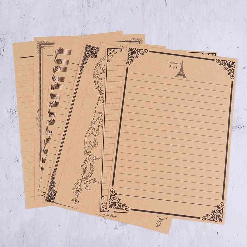 Letterhead Nostalgic Retro Kraft Paper Stationery Printing Thick Letter Paper