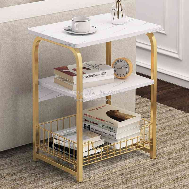 Small Desk/table Furniture For Coffee Table Square Marble Magazine Shelf