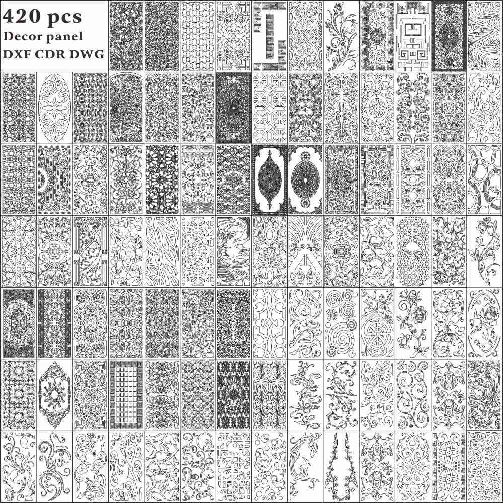 Decorative Panel Design Dxf/dwg File / Router Laser Cut Dxf-cdr Files