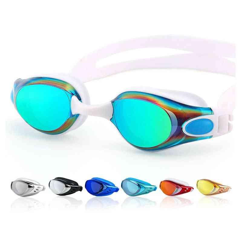 Men Women Anti-fog Prescription Waterproof Silicone Swim Pool Eyewear Adults Kids Diving Glasses