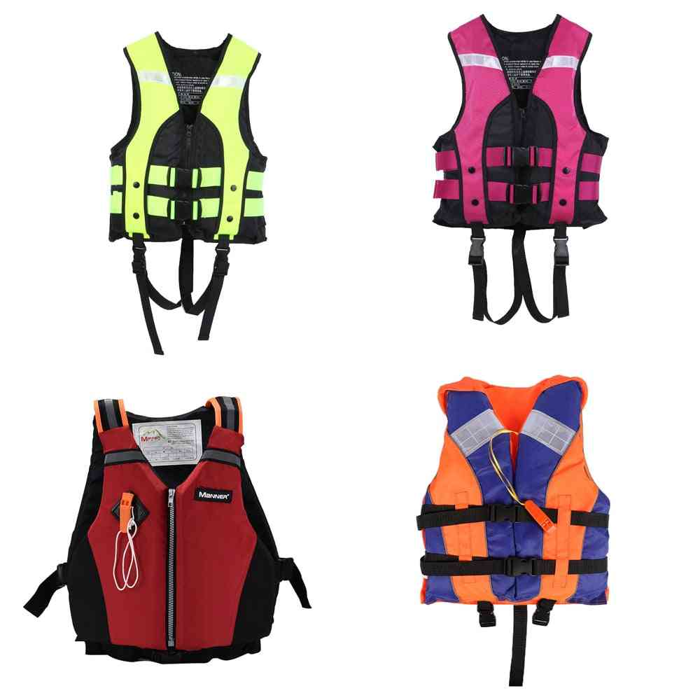 Outdoor Swimming Boating Skiing Riding Vest Survival Suit Polyester Life Vest