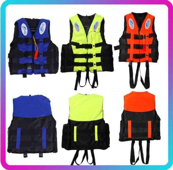 Life Jacket Swimming Boating Ski Vest+whistle Outdoor Practical Life Jacket
