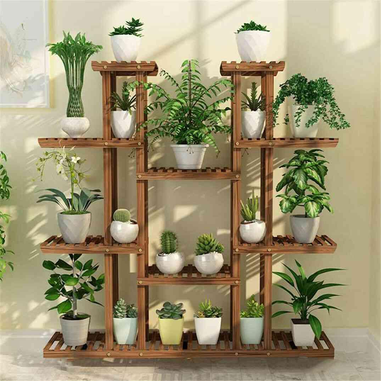 Multi-tier Plant Stand, Wood Flower Rack Holder /display Storage Shelves