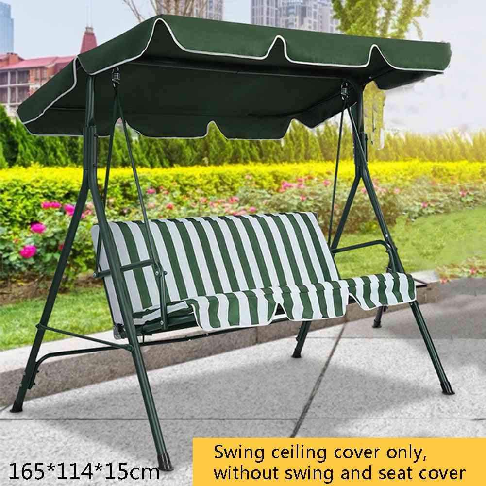 Green/beige Swing Top Cover Canopy Replacement Porch Swing Chair