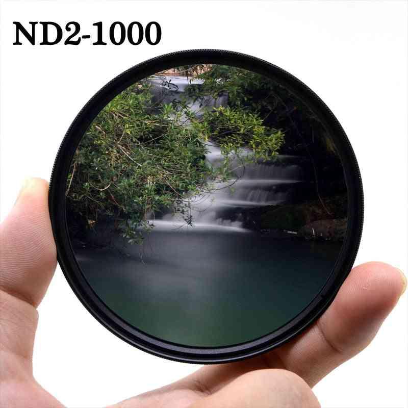 Variable Neutral Density Adjustable Camera Lens Filter