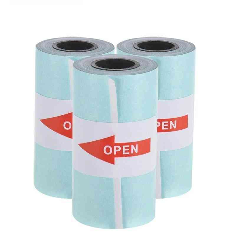 Label Sticker Paper Roll For Peripage A6 Portable Printer Paper