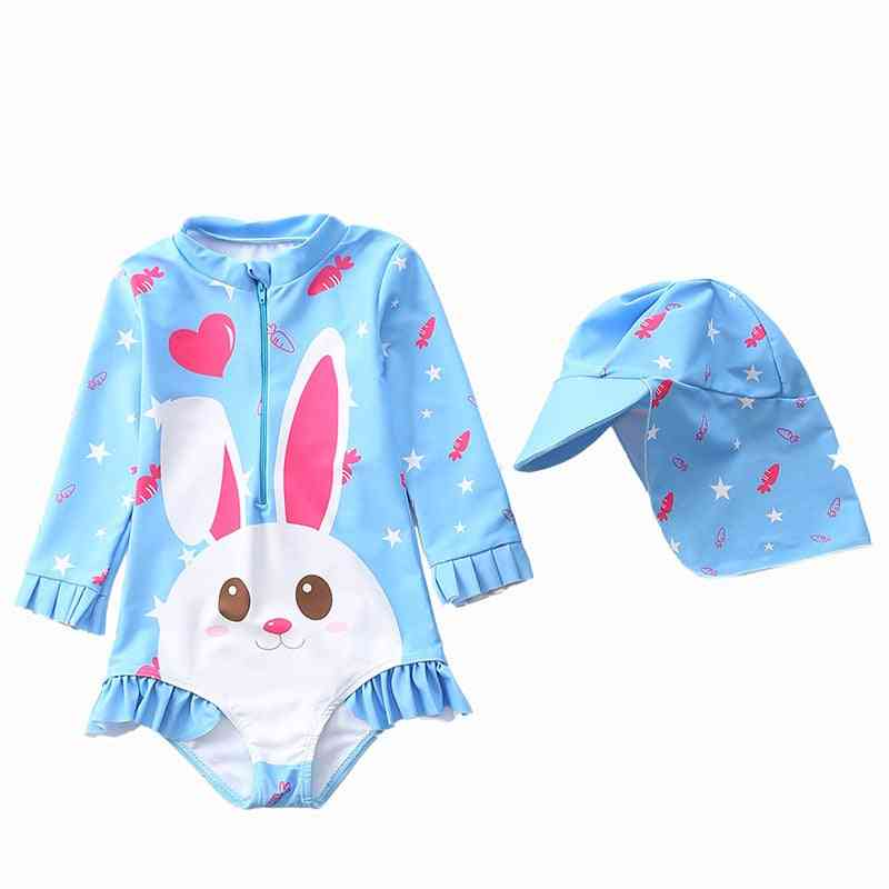 1~7y Toddler Baby Swimming Suit Long Sleeves