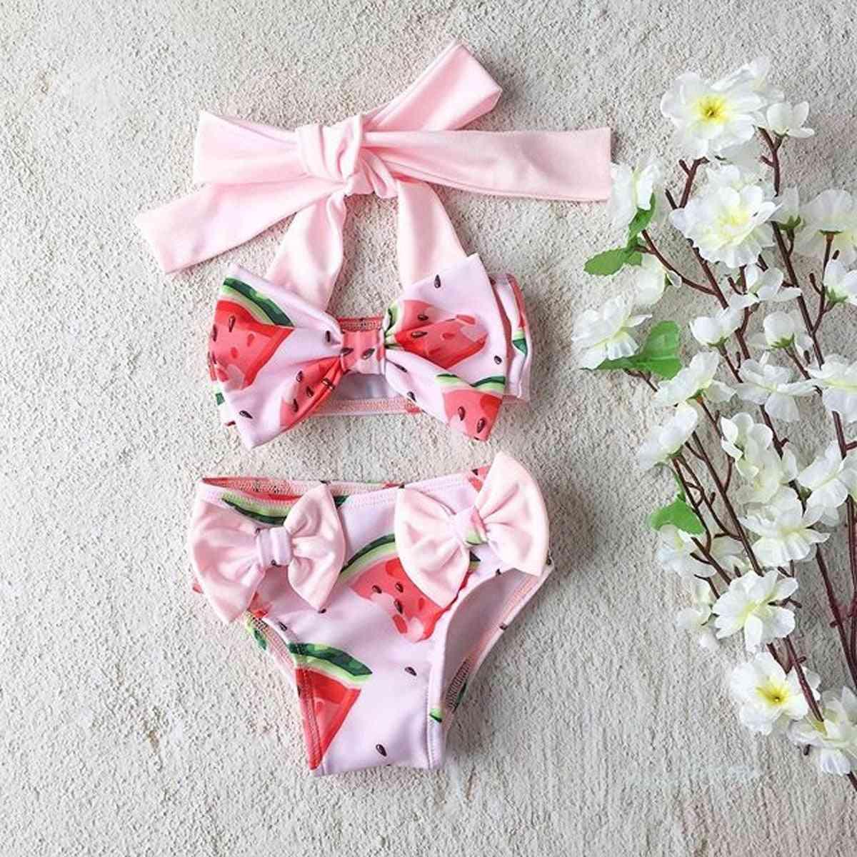 Kid Baby Watermelon Print Bikini Sets