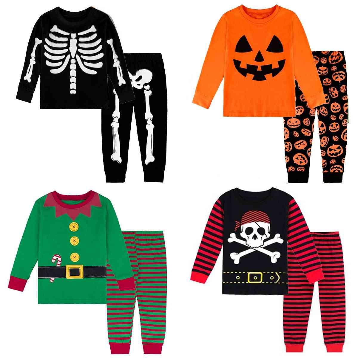 Boys Pajamas, Kids Halloween Christmas Pajama Sets