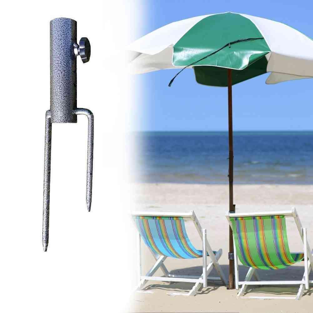 Portable Base Outdoor Adjustable Parasol Holder Beach Umbrella Pole