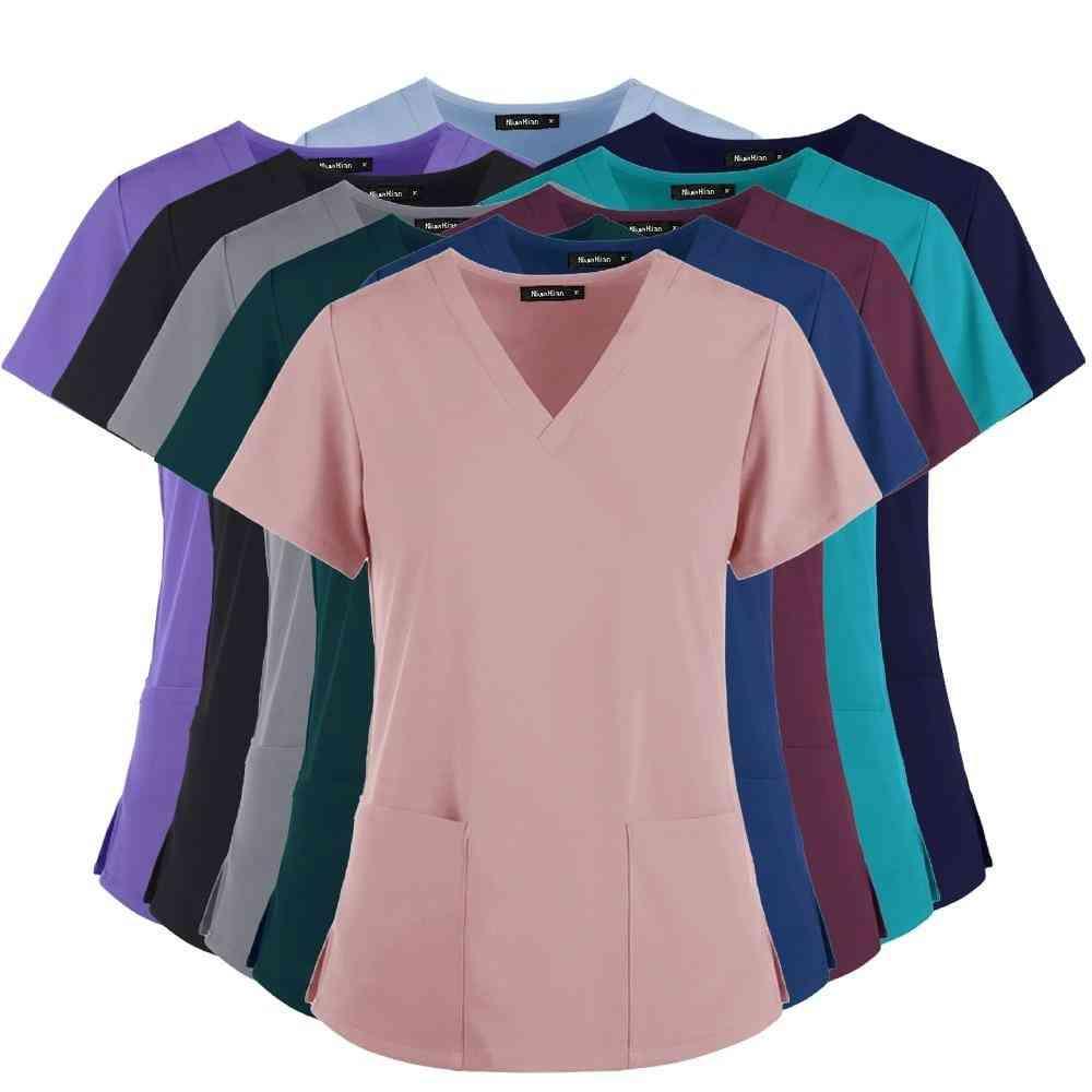 Medical Coats Nursing Scrubs Women T Shirt For Doctor Working Clothes Tops