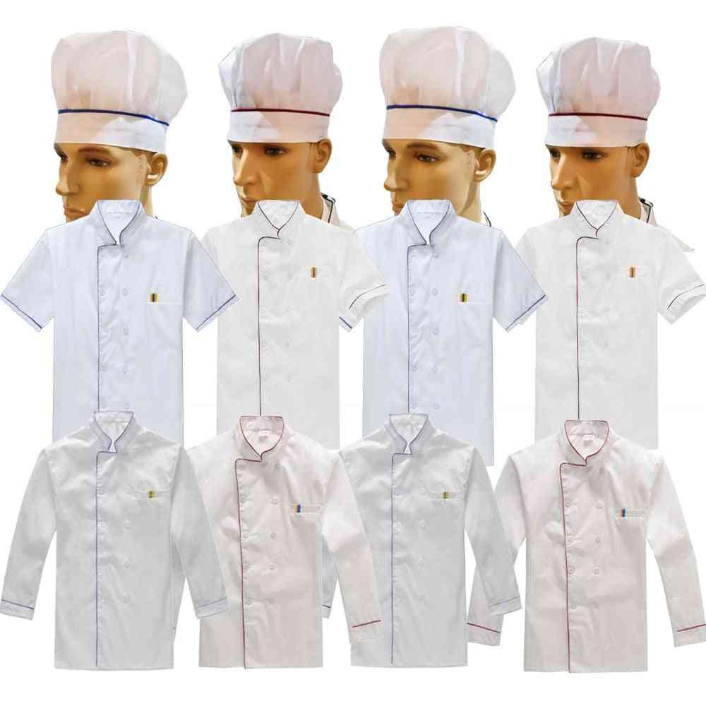 Work Wear Uniforms, Unisex Chef Coat Kitchen Short Long Jacket