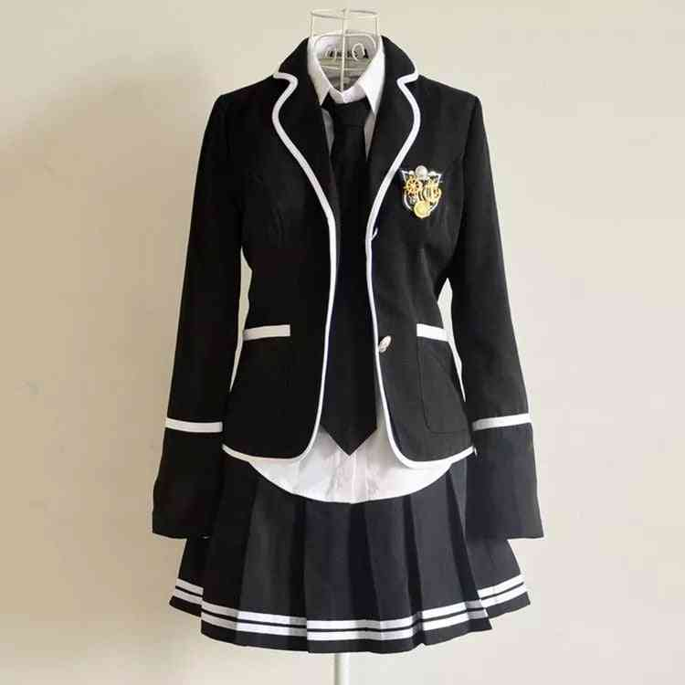 Long Sleeved Students School Uniforms