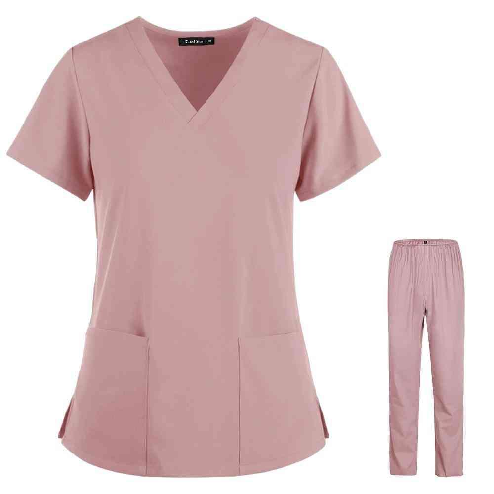 High Quality Uniforms, Unisex V-neck Work Tops Pants