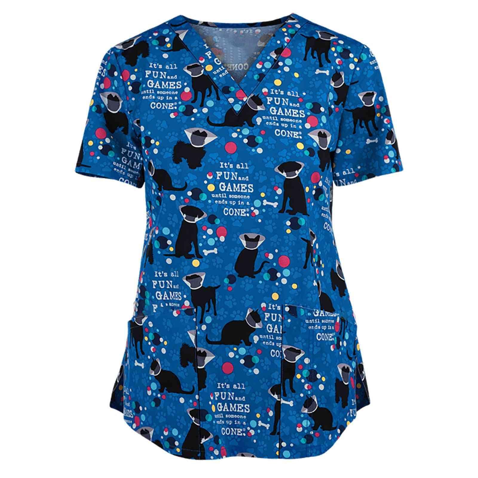 Animal Print Uniform, Beauty Salon Nursing Uniform
