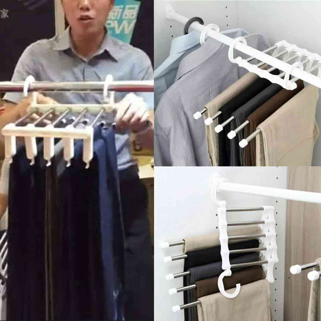 Multi-layer Hanging Pants Storage Rack Five In One Hundred Magical