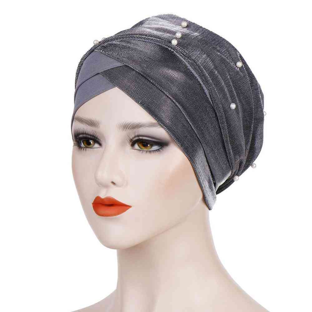 Full Cover Crisscrossed Turban Hijab With Shawl